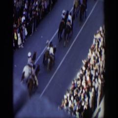 1951: the horse parade. TEXAS Stock Footage