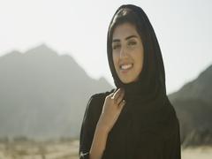 Portrait of Arab woman. Stock Footage