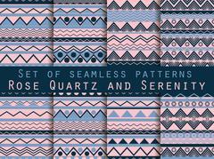 Set the texture seamless in ethnic style. Tribal seamless texture. Stock Illustration