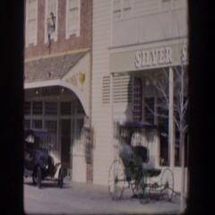 1954: a block of shops and businesses downtown LAS VEGAS NEVADA Stock Footage