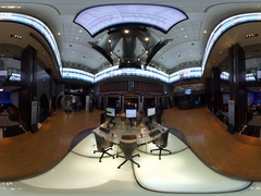 Bovespa Brazilian Stock Exchange Market Lobby 360 video VR Stock Footage