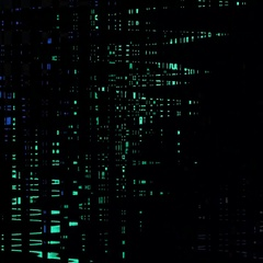 Colored glowing sinusoids Stock Footage