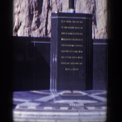 1954: memorial statue video tour NEVADA Stock Footage