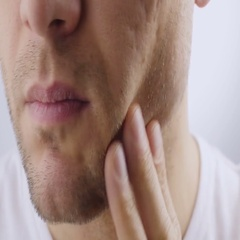 Man preens before the mirror. Stock Footage