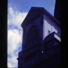 1950: check out the architecture of this building! MONTREAL CANADA Stock Footage