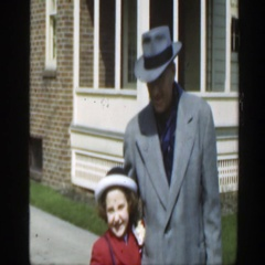 1949: out in our sunday best for photos. MASSACHUSETTS Stock Footage
