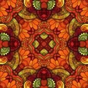 Vector Seamless Abstract Tribal Pattern Stock Illustration