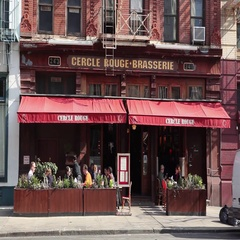 Cercle Rouge Brasserie Tribeca Manhattan Stock Footage