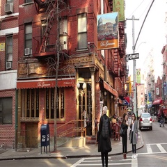 Restaurant Little Italy Manhattan Stock Footage