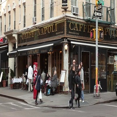 Caffe Napoli Little Italy Manhattan Stock Footage