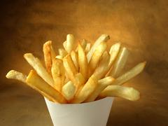 Fast food restaurant fries Stock Photos