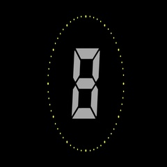 Animation of a countdown timer Stock Footage