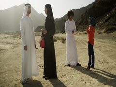 Arab friends spending time outdoors. Stock Footage
