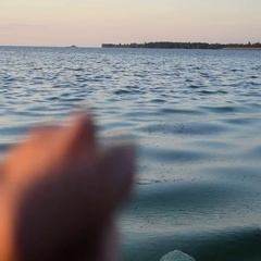 Person skipping stone on a river Stock Footage