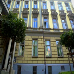 Exterior of the Faculty of Architecture in Ljubljana Stock Footage