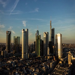 Frankfurt Timelapse Day to Night to Day Stock Footage