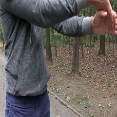 Young Athletic Man Doing Exercises In The Park. Street Workout Training On Sport Stock Footage