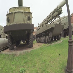 Artillery Museum and exhibits Stock Footage
