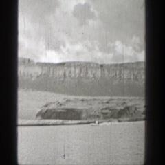 1938: speedy boat on lake! WASHINGTON Stock Footage