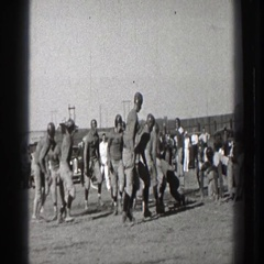 1939: old football clip WASHINGTON Stock Footage