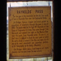 1939: sign explains capt. reynolds discovery of distinctive feature Stock Footage