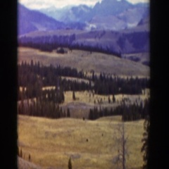 1939: peaceful view of the mountains. WYOMING Stock Footage