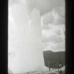 1939: water spout WYOMING Stock Footage