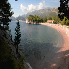 Royal beach in Montenegro Stock Footage