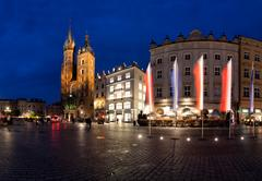 Krakow old town main market square Stock Photos