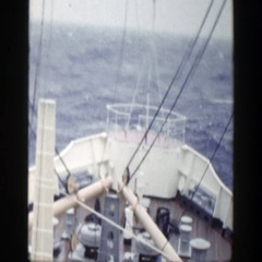 1948: merchant ship traveling over rough seas. NEW YORK Stock Footage