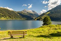 Durlassboden reservoir in the Zillertal Alps, Austria Stock Photos