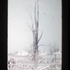 1956: small construction site with a lot of mess. GRAND RAPIDS MICHIGAN Stock Footage