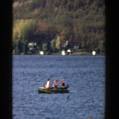 1957: footage of families fishing WISCONSIN Stock Footage