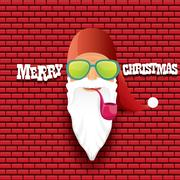 Vector rock n roll santa claus Stock Illustration