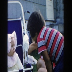 1958: mother spending time with her wonderful children. MICHIGAN Stock Footage