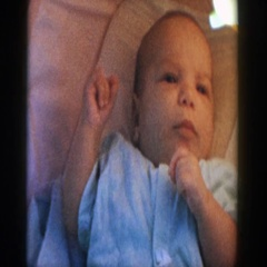 1958: sweet little baby MICHIGAN Stock Footage