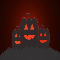 Halloween motion background with glowing pumpkin Stock Footage