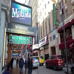 Matilda Marquee Shubert Theatre New York City Stock Footage