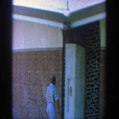 1964: a family came to one home WISCONSIN Stock Footage