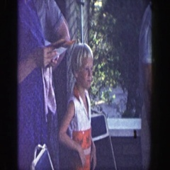 1964: inside the house the members of the family are chatting and enjoying Stock Footage