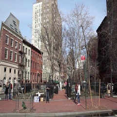 Christopher Park Greenwich Village New York City Stock Footage