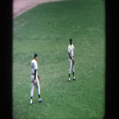 1964: baseball team readjust for next play YANKEE STADIUM NEW YORK Stock Footage