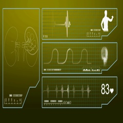 Kidneys - Monitor - Digital Screen - yellow Stock Footage