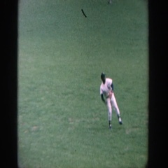 1964: man throwing a baseball during a game. YANKEE STADIUM NEW YORK Stock Footage