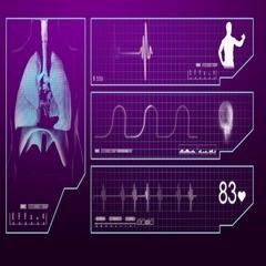Lungs - Monitor - Digital Screen - purple Stock Footage