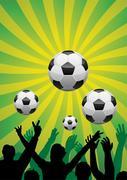 Vector soccer background Stock Illustration