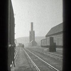 1936: a train moving slowly on the train tracks CALIFORNIA Stock Footage