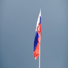Slovak flag in the wind Stock Footage