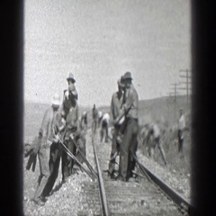 1936: train rolling down the tracks CALIFORNIA Stock Footage