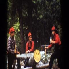 1939: lumberjacks having fun! CHELAN WASHINGTON Stock Footage